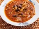 Рецепта Яхния с пилешки воденички и грах